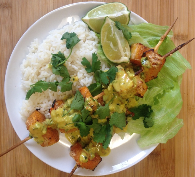 ... rice thai coconut rice thai curry chicken skewers with coconut peanut